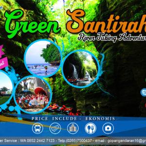 river tubing adalah kegiatan outbond menyusuri sungai santirah dengan menggunakan ban dan pelampung