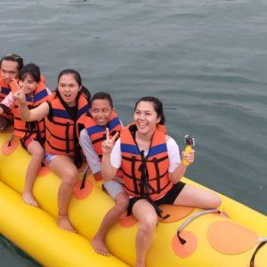 watersport pangandaran banana boat pangandaran
