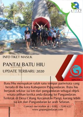 tiket masuk batu hiu terbaru 2020